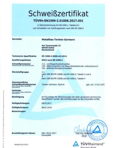 Zertifikat 2